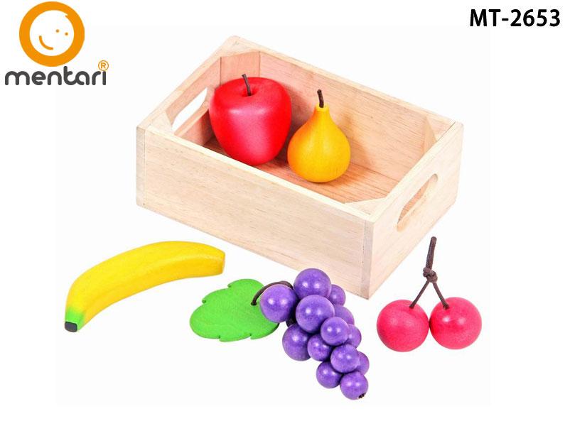 家家酒木質玩具 廚房配件 Mentari小寶貝健康水果組