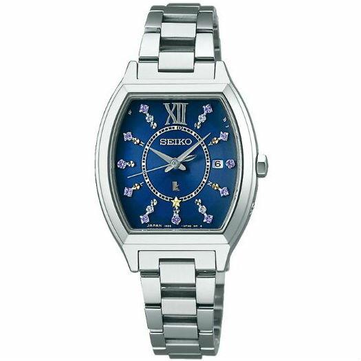 大高雄鐘錶城 Seiko 精工錶 Lukia系列  1B22-0BC0B(SSVW111J) 藍色限量太陽能電波腕錶 28mm