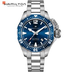 Hamilton 漢米爾頓 卡其海軍系列蛙人腕錶-H77705145藍/42mm