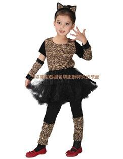 天姿舞蹈戲劇表演服飾特殊造型館:G-0047俏麗小豹女化妝舞會表演造型服批發團購(MLXL)