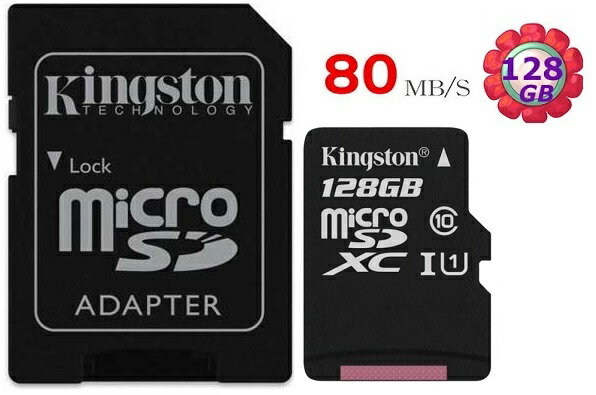 KINGSTON 128GB 128G 金士頓~80MB  s~microSDXC mic