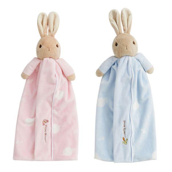 奇哥 比得兔 安撫小抱毯/安撫巾/禮盒/彌月禮盒/送禮(藍/粉)附奇哥提袋