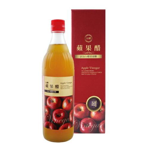 台糖蘋果醋 600ml (單瓶) 【合迷雅好物商城】