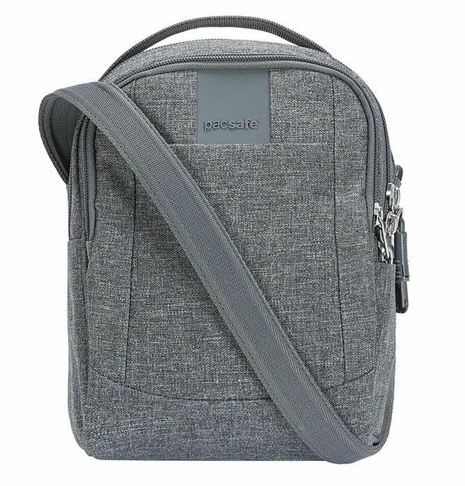 【Pacsafe 澳洲】Metrosafe LS100 防盜單肩隨身包 方包 隨身側包 防盜包 灰色 (30400123)