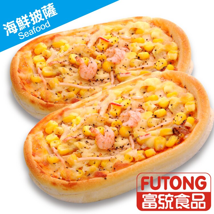 《人氣美食|平均每片28元》【富統食品】迷你小披薩6片(每片120g,6片一袋同口味:總匯、燻雞、海鮮、夏威夷) 3