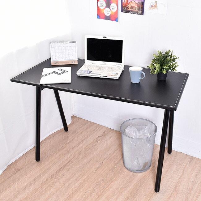 桌子 / 書桌 / 電腦桌  馬鞍工作桌電腦桌(附電線孔蓋) 【B15046】凱堡家居 0