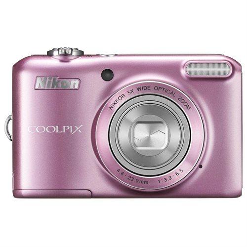 "Nikon Coolpix L28 20.1 Megapixel Compact Camera - Pink - 3"" LCD - 16:9 - 5x Optical Zoom - 4x - Digital (IS) - 5152 x 3864 Image - 1280 x 720 Video - PictBridge - HD Movie Mode 2"
