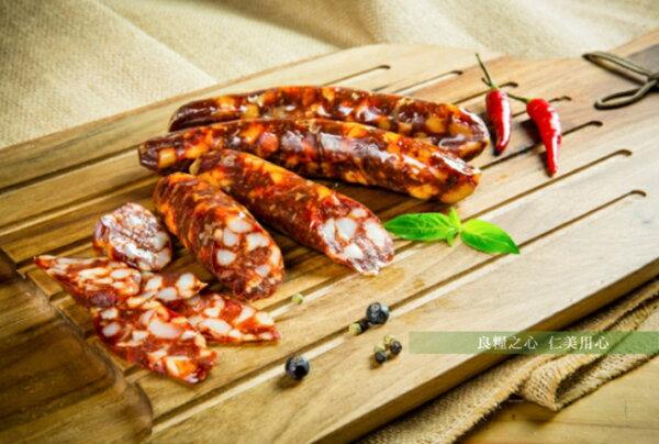 仁美良食:三源樂活豬西班牙熟成臘腸(220g包)