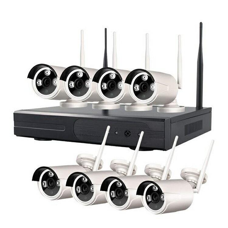 高清1080P無線監控套裝組 (8路組) WIFI 無線監視器 無線攝影機 監控攝影機 網路攝影機 1
