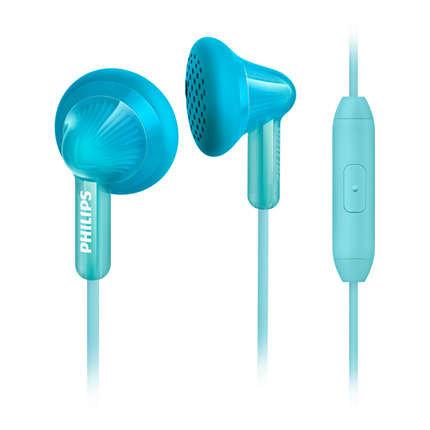 【迪特軍3C】PHILIPS 飛利浦 SHE3015TL 手機用耳塞式耳麥 藍綠色
