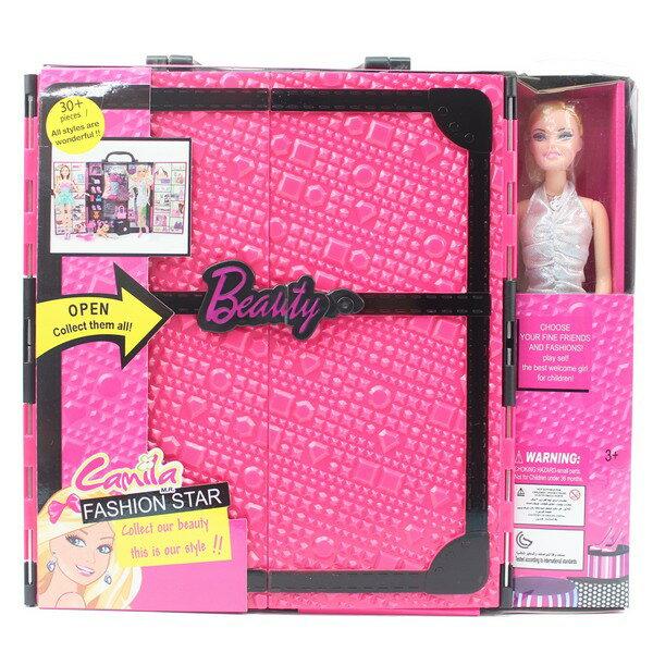 手提娃娃衣櫃組+1入娃娃YS1601一盒入{促650}活動關節11.5吋美少女~CF136274