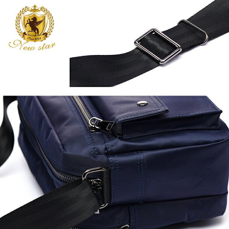 日系防水側背包包 升級版  (機能 雙口袋 雙層 斜背包 porter風 NEW STAR BL89 7