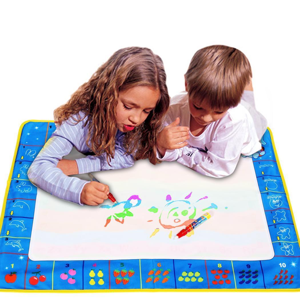 Fashion Children Kids Drawing Water Pen Painting Mat Board Boy Girl Toy 1