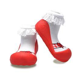 韓國Attipas快樂腳襪型學步鞋-AB01-芭蕾紅(M/L/XL)【悅兒園婦幼生活館】