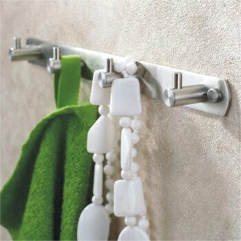 【帝鋼衛浴】304不鏽鋼掛衣鈎(四鈎)TBA-0115 4
