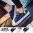 格子舖*【AA3823】基本款百搭時尚簡約 魔鬼氈穿拖 布面鞋帆布鞋 3色 3