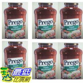 [COSCO代購 如果沒搶到鄭重道歉] W918698 Prego 普格 蘑菇口味義大利麵醬 1.27公斤 (6入裝)