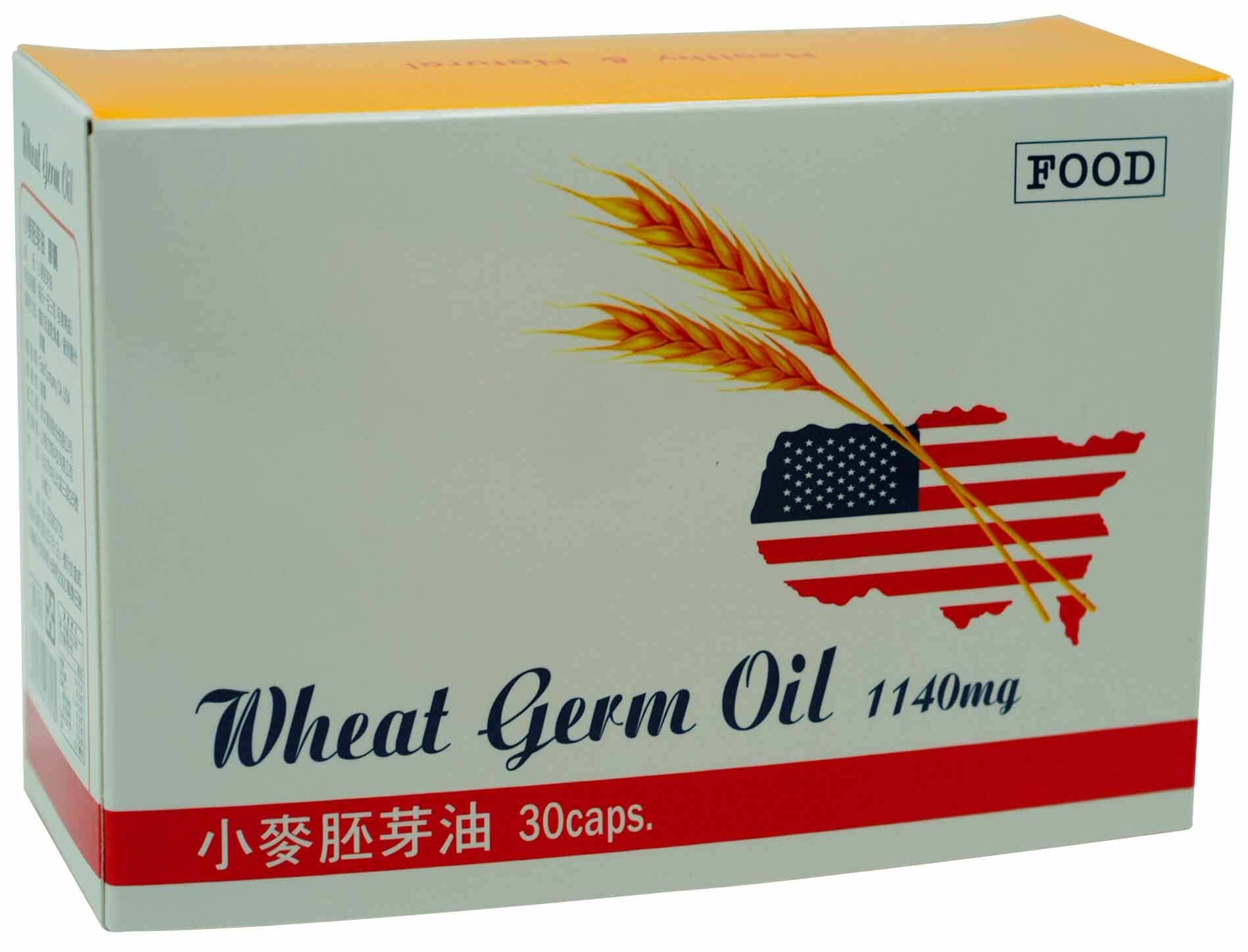 【美日樂活】美國原裝 小麥胚芽油 (30粒膠囊),天然維生素E,促進新陳代謝,延緩機體衰老