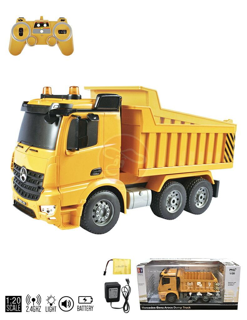 【型號E525-003】1:20benz授權遙控自卸車工程車