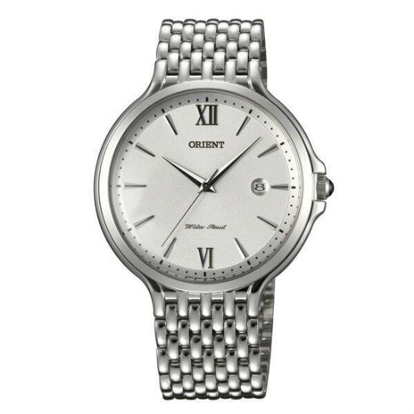 ORIENT東方錶CLASSICDESIGN系列(FUNF7006W)懷舊復古風石英錶五珠鍊帶白色40.5mm