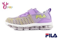 FILA 中大童 運動鞋 個性織布 機能鞋 輕量慢跑鞋 O7694#紫色◆OSOME奧森鞋業