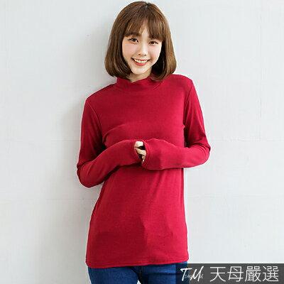 【天母 】正韓-多色素面彈力小立領厚磅柔棉上衣 共十四色