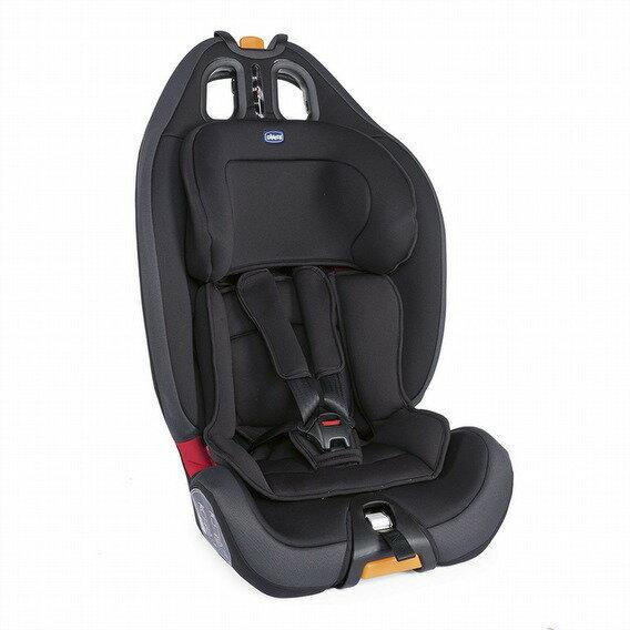 【淘氣寶寶*獨家加贈炫客碗或盤(隨機)】Chicco Gro-up123 成長型兒童汽車安全座椅 9~36kg 幕府黑【公司貨】