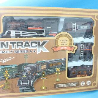 復古火車玩具 NO.17669 電動軌道火車組 火車軌道組(附電池)大生/一盒入{促400}