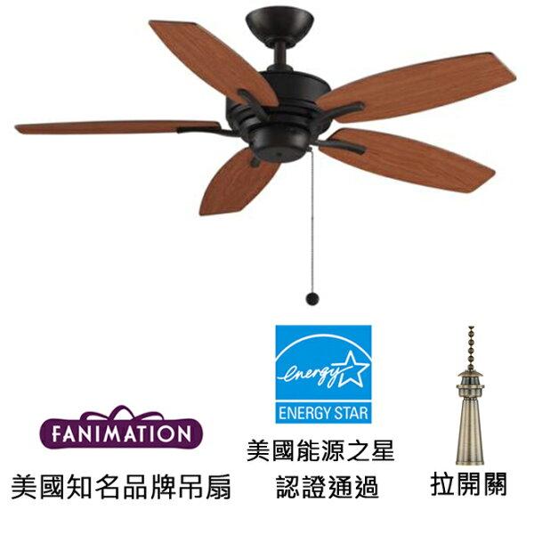 美國知名品牌吊扇專賣店:[topfan]FanimationAireDeluxe44''44英吋吊扇(FP6244DZ)暗銅色