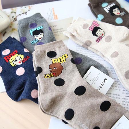 韓國 個性美式USA人物短襪 襪子 百搭 造型襪 流行襪 短襪【N101064】