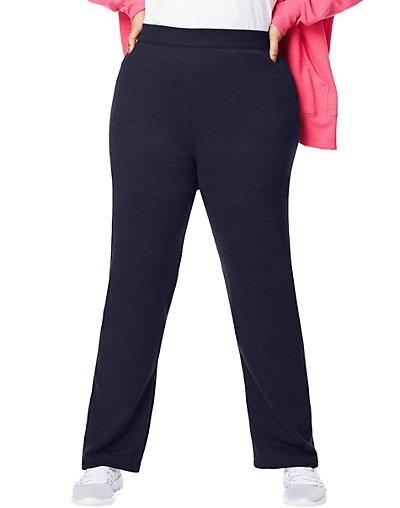 Size 2X Just My Size Eco Smart Fleece Open-Hem Womens Sweatpants Light Steel