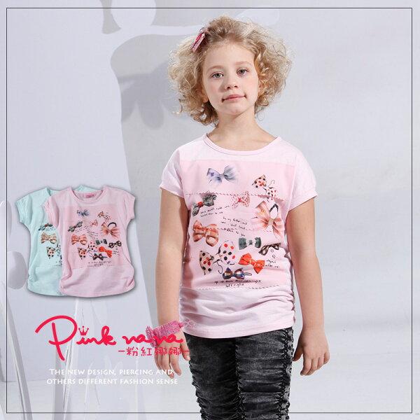 PINKNANA蝴蝶結造型棉質上衣29165