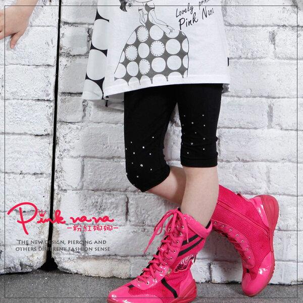 PINKNANA童裝女童燙純棉內搭褲薄款褲子PN502