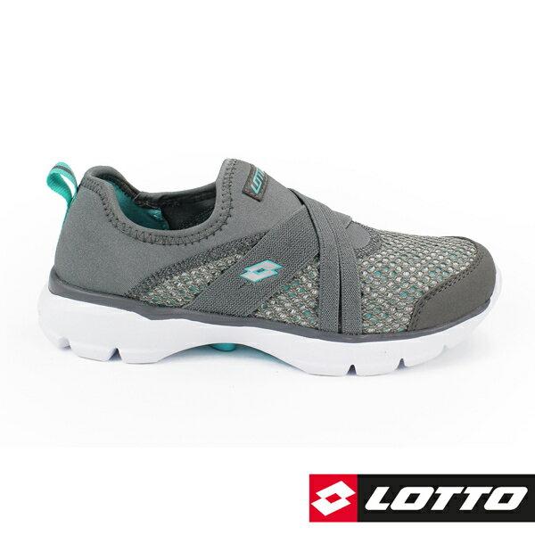 【巷子屋】義大利第一品牌-LOTTO樂得女款EASYWEAR樂活輕跑鞋SOQPAD鞋墊[6748]灰超值價$890