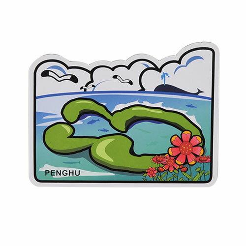 【MILU DESIGN】+PostCard>>台灣旅行明信片-澎湖 雙心石滬/明信片(台灣景點/漁業/TAIWAN)