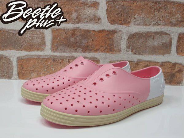《下殺$1499》BEETLE PLUS 全新 2015 NATIVE JERICHO 粉白 草莓牛奶 奶油底 超輕量 女鞋 修身鞋 GLM04W-5949 1