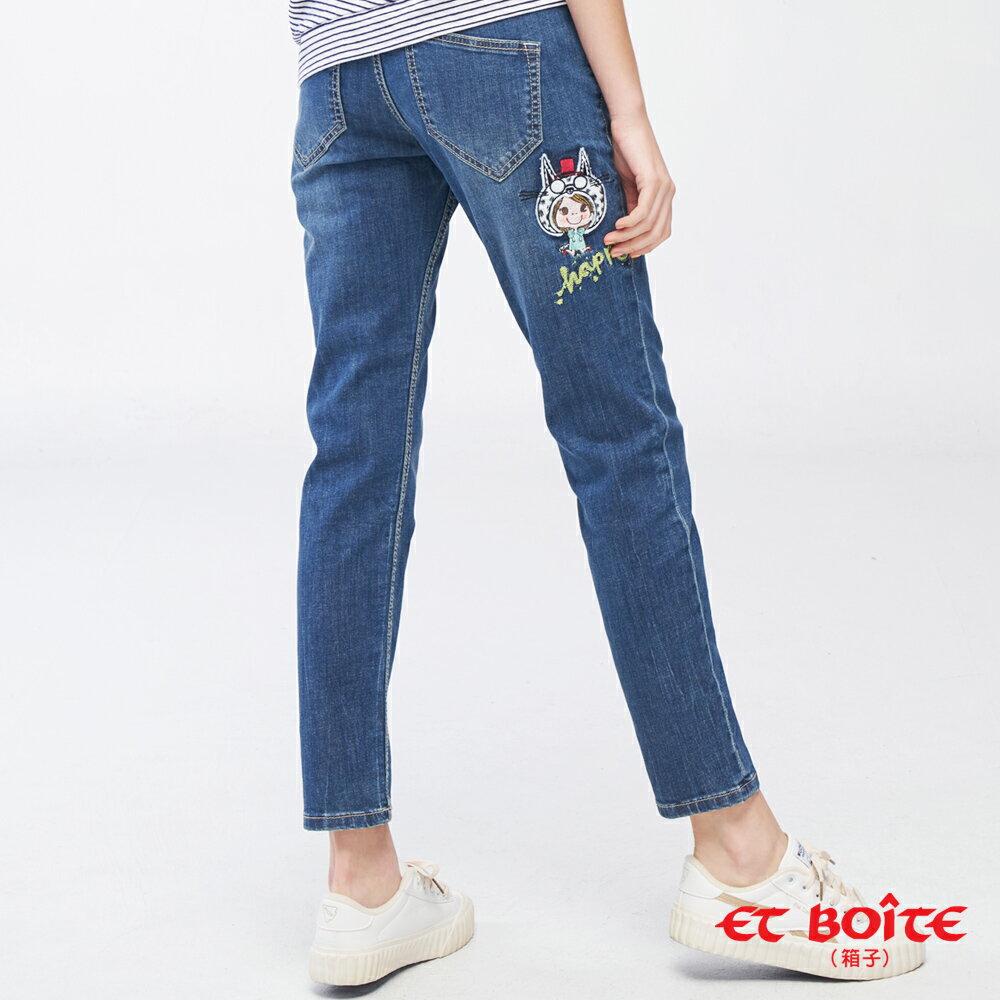 【19新品】貓咪娃娃男友褲(深藍) - BLUE WAY ET BOITE箱子 2