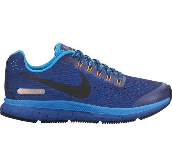 NIKEZoomPegasus34Shield女鞋大童慢跑氣墊藍黑【運動世界】922850-400
