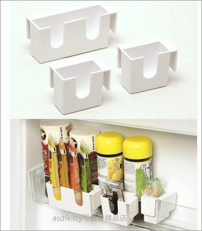 asdfkitty可愛家☆冰箱門內小物置物架3入-可收放醬料包.軟管調味料...-AIWA-日本製