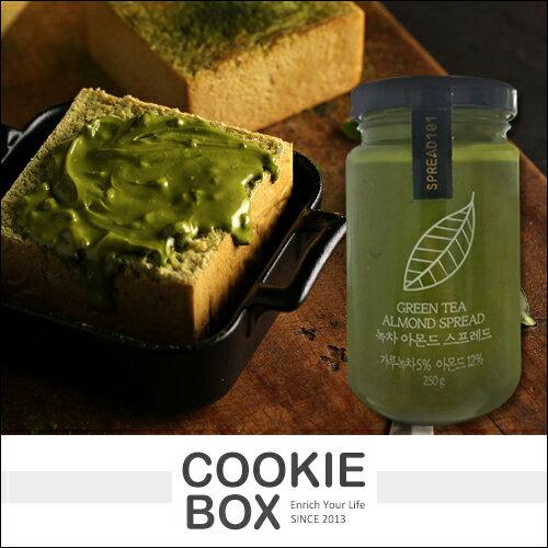 韓國 Omukshop SPREAD101 抹茶 杏仁 抹醬 250g 果醬 抹茶醬 顆粒 吐司 早餐 貝果 *餅乾盒子*