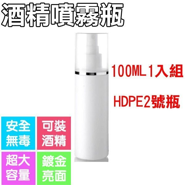 【Love Shop】100ML 1入抗菌噴霧瓶 / 2號HDPE酒精瓶 / 乾洗手空瓶 / 乳液空瓶子 / 霧噴瓶 / 抗菌乾洗手空瓶 3