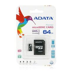 【神腦/聯強 終身保固】64GB 記憶卡/C10/CLASS 10/SDXC UHS-I/Transcend/創見/威剛/ADATA/附轉卡/T-Flash/TF/Micro SD