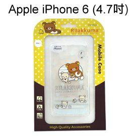 拉拉熊透明軟殼 [點點橫條] iPhone 6 / 6S (4.7吋) 懶懶熊【San-X正版授權】
