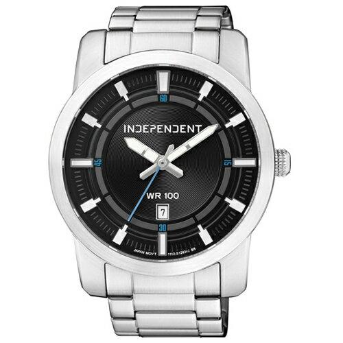 CITIZEN 星辰錶 INDEPENDENT IB5-411-51 潮流態度日期都會腕錶(銀黑)