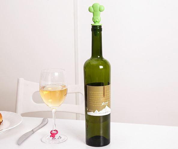 【省錢博士】創意食品級矽膠保鮮酒瓶 / 塞酒杯識別扣 / 識別器紅酒塞套裝  69元 - 限時優惠好康折扣