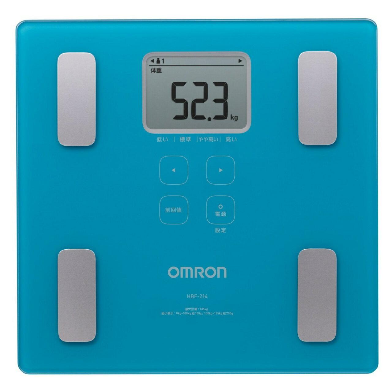 OMRON歐姆龍體脂肪計HBF-214(藍色),限量加贈專用提袋(送完為止)