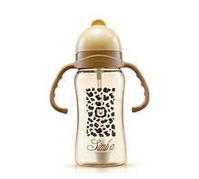 小獅王PPSU自動把手滑蓋杯(豹紋) 240ml 任選6支PPSU奶瓶-送蘿拉包(送完為止)【樂寶家】