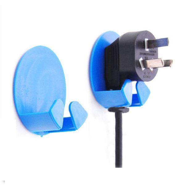 電線收納掛勾 插座收納架 電源線插頭掛鉤(2入) ZE5072 好娃娃