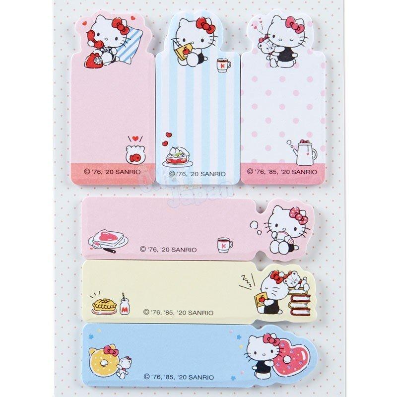 凱蒂貓kitty 備忘錄 記事 便利貼 便條紙 自黏便籤 日本製 文具 4550337373446 日本製長條自黏便籤-KT日常FD33 真愛日本