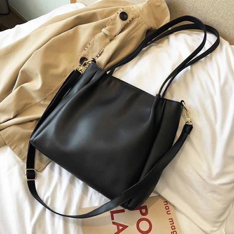 包包女斜挎包百搭大容量單肩包2021新款潮韓版簡約手提女包托特包